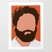 Zach Galifianakis Digital Portrait Art Print