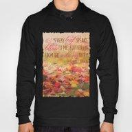 Autumn Leaves Poem Hoody