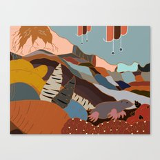 the joy of being Six-feet-under Canvas Print