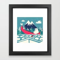 Yeti And Bunny Going On … Framed Art Print