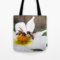 Bees At Work Tote Bag
