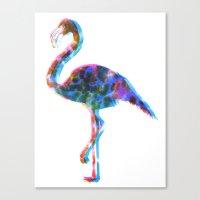 CMYK Flamingo Canvas Print