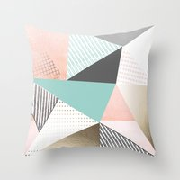 Pastel sunrise Throw Pillow