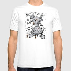 NO ONE ELSE CAN DO IT FOR YOU - grey White SMALL Mens Fitted Tee