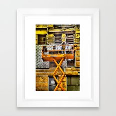 What's going on down there ? Framed Art Print