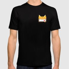 Convo Cats! Wally Mens Fitted Tee Black SMALL