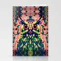 Psychedelic Owl Stationery Cards