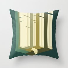 Lonely Wolf Throw Pillow