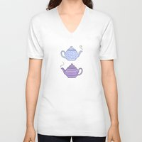 Patterned Teapots Unisex V-Neck