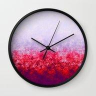 Crimson Autumn Print Wall Clock