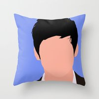 Logan Lerman Digital Portrait Throw Pillow