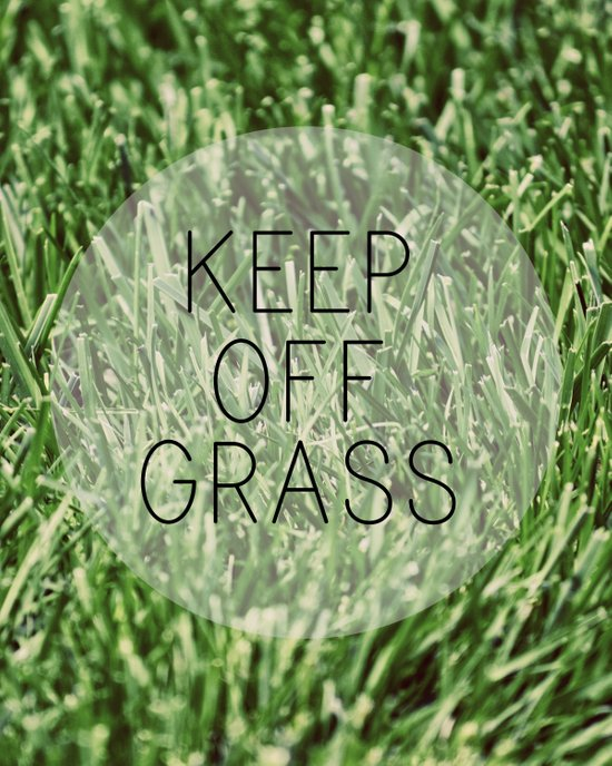 Keep Off Grass Canvas Print