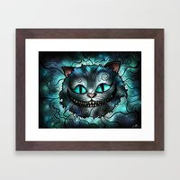 Were All Mad Here Framed Art Print