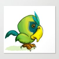 Green Parrot Canvas Print