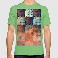 Digital Checkerboard Mens Fitted Tee Grass SMALL