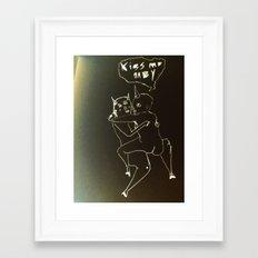 kiss me baby Framed Art Print