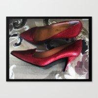 Shoes - Valentino Canvas Print