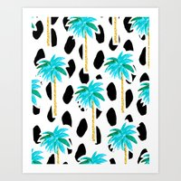Palm Trees And Dots Art Print
