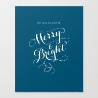Merry & Bright Canvas Print