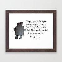 Robot Problems Framed Art Print