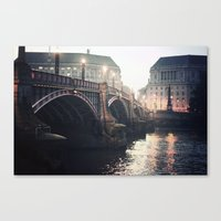 Evening Bridge Canvas Print