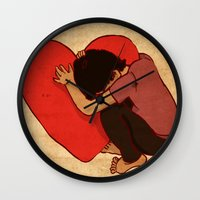 Silence Of The Heart Wall Clock