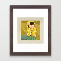 The Kiss (Lovers) By Gus… Framed Art Print