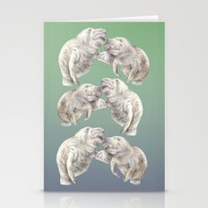 Manatees in love Stationery Cards