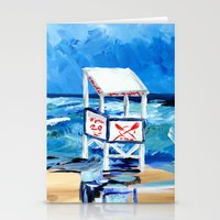 Ocean City Lifeguard Sta… Stationery Cards