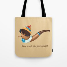 This is not a puppet Tote Bag