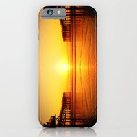 iPhone & iPod Case featuring Pier Mirrored Sunset by Derek Fleener