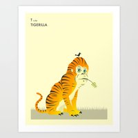 T is for TIGERILLA Art Print