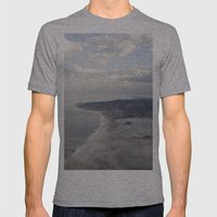 View from above Mens Fitted Tee Athletic Grey SMALL
