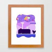 Tiny Worlds - Super Mario Bros. 2: Peach Framed Art Print