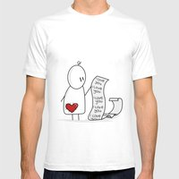 I Love You... A Lot. Mens Fitted Tee White SMALL