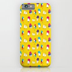Ice cream pattern - light blue iPhone 6s Slim Case