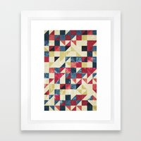 Geo Summer Grunge Framed Art Print