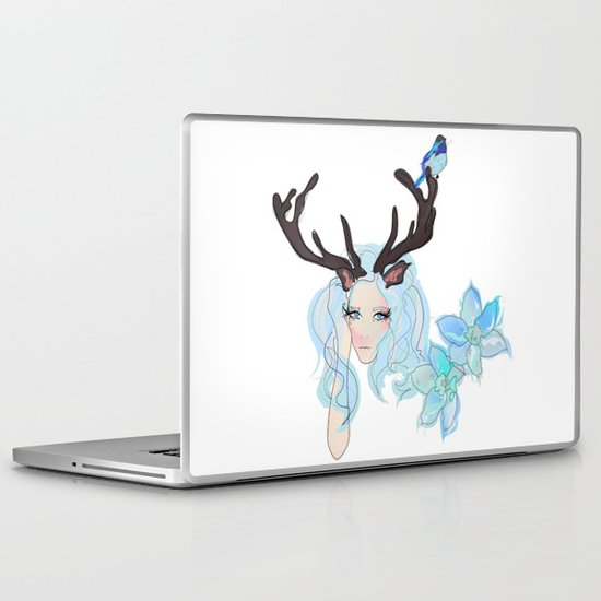 Ice lady. Laptop & iPad Skin