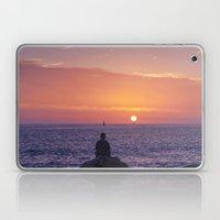 Man Enjoying Sunset Laptop & iPad Skin