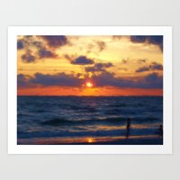 Sunset On Marco Island Art Print