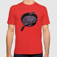 Cast Iron Man  Mens Fitted Tee Red SMALL