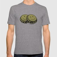 Two Happy Beers Mens Fitted Tee Athletic Grey SMALL