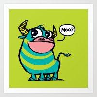 MooGrin Art Print