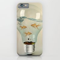 iPhone Cases featuring ideas and goldfish 03 by vin zzep