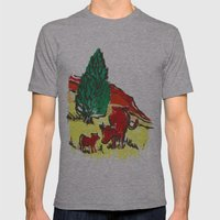 Big Moo, Wee Moo (colore… Mens Fitted Tee Athletic Grey SMALL