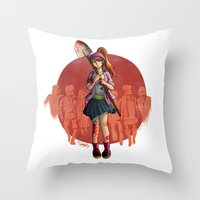Land Of The Rising Dead … Throw Pillow