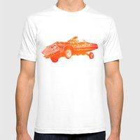 Orange Lowrider Mens Fitted Tee White SMALL
