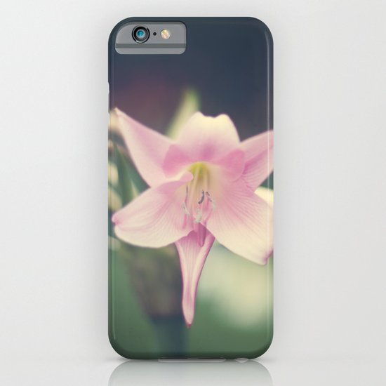 Vintage and Soft Pink Lilies iPhone & iPod Case