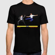 Boss Fight Black Mens Fitted Tee SMALL