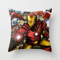 Man of Iron Throw Pillow